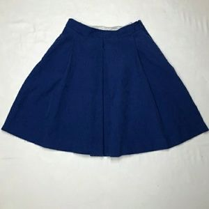 Blue pleated skirt NWT
